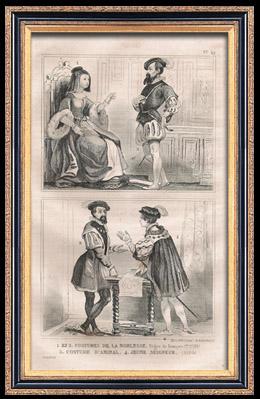 Franz�sische Mode und Milit�rische Kost�me - 16. Jahrhundert - Adel - Admiral - K�nigliche Gericht - Franz I, K�nig von Frankreich (1530)