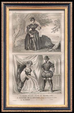 Franz�sische Mode und Milit�rische Kost�me - 16. Jahrhundert - Maria Stuart - Renaudie - K�nigliche Gericht - Franz II, K�nig von Frankreich (1560)