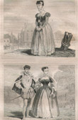 French Fashion and Military Costumes - 16th Century Style XVI - Bourgeoisie - Court of the King of France - Francis II (1560)