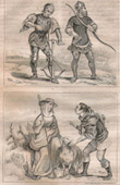 French Fashion and Military Costumes - 14th Century Style XIV - Court of the King of France - Charles VI (1390 / 1395)