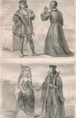 French Fashion and Military Costumes - 15th Century Style XV - Nobility - Court of the King of France - Charles VIII (1490)