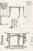 Plate 314 of the Methodical Encyclopedia - Antiquities - Ancient Greece - Ancient Rome - Ancient Egypt - Art and Pieces of Furniture