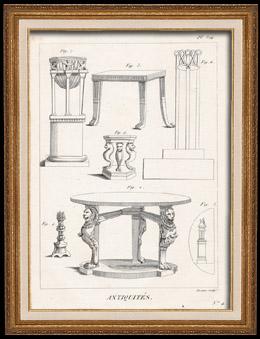 Plate 314 von die Gro�e Enzyklop�die von Diderot und d�Alembert - Die Altert�mer - Geschichte Griechenlands - Antikes Rom - Altes �gypten - Kunst und M�bel