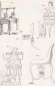 Gravura antiga - Placa 312 da Enciclopédia Metódica - Antiguidades - Grécia Antiga - Roma Antiga - Antigo Egipto - Arte e Móveis