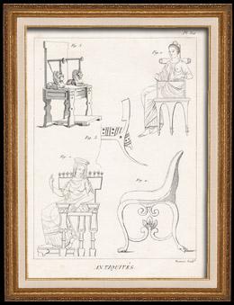 Placa 312 da Enciclopédia Metódica - Antiguidades - Grécia Antiga - Roma Antiga - Antigo Egipto - Arte e Móveis
