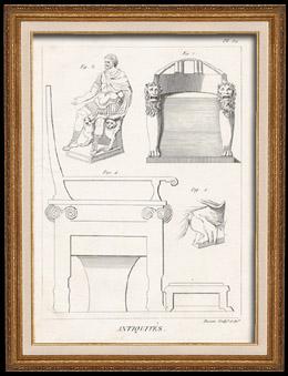 Plate 311 von die Große Enzyklopädie von Diderot und d'Alembert - Die Altertümer - Geschichte Griechenlands - Antikes Rom - Altes Ägypten - Kunst und Möbel
