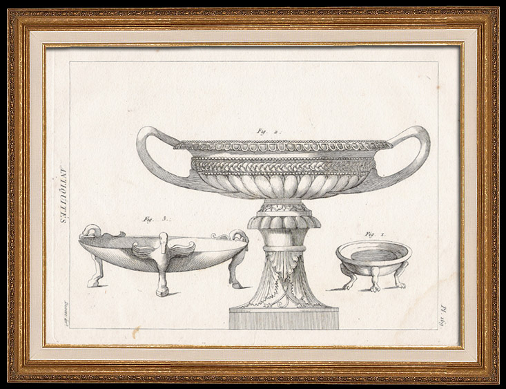 Antique Prints & Drawings | Plate 169 of the Methodical Encyclopedia - Antiquities - Ancient Greece - Ancient Rome - Ancient Egypt - Art - Vases and Ceramics | Copper engraving | 1786