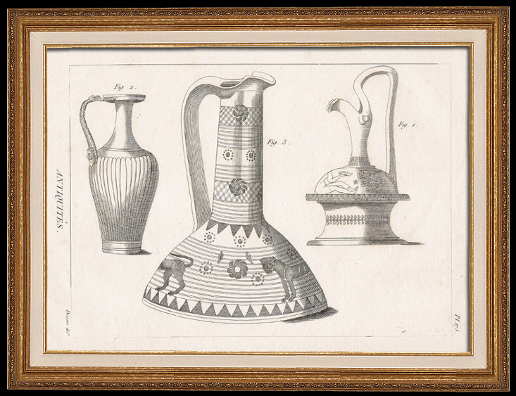 Antique Prints & Drawings | Plate 175 of the Methodical Encyclopedia - Antiquities - Ancient Greece - Ancient Rome - Ancient Egypt - Art - Vases and Ceramics | Copper engraving | 1786