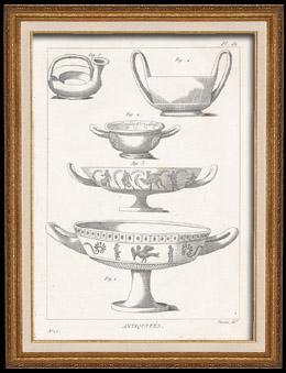 Plate 181 von die Große Enzyklopädie von Diderot und d'Alembert - Die Altertümer - Geschichte Griechenlands - Antikes Rom - Altes Ägypten - Kunst -Vasen und Keramiken