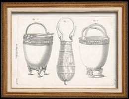 Plate 180 von die Gro�e Enzyklop�die von Diderot und d�Alembert - Die Altert�mer - Geschichte Griechenlands - Antikes Rom - Altes �gypten - Kunst -Vasen und Keramiken