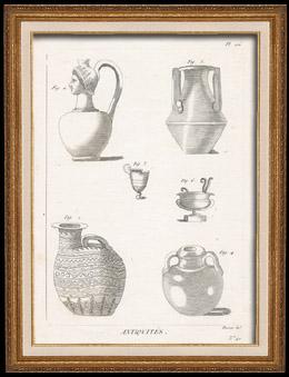 Plate 176 von die Gro�e Enzyklop�die von Diderot und d�Alembert - Die Altert�mer - Geschichte Griechenlands - Antikes Rom - Altes �gypten - Kunst -Vasen und Keramiken