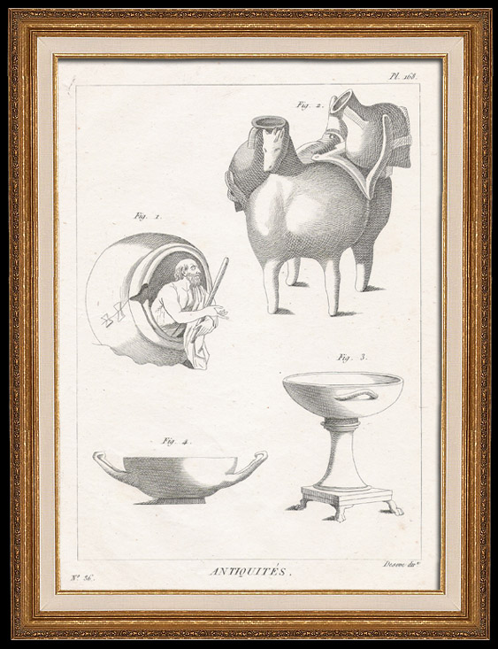 Plate 168 von die Große Enzyklopädie von Diderot und d'Alembert - Die Altertümer - Geschichte Griechenlands - Antikes Rom - Altes Ägypten - Kunst -Vasen und Keramiken