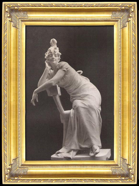 Antique Prints & Drawings | Sculpture - Statue - Woman - Under the Empire (Georges Van der Straeten) | Photogravure | 1894