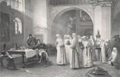 Stich von Napoleon - Marschalls Lannes an Kloster von Sankt Pölten (Albert-Pierre Dawant)