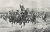 Marshal of France - Brother-in-law of Napoleon Bonaparte - Marshal Murat at the Battle of Jena-Auerstedt (Henri Chartier)