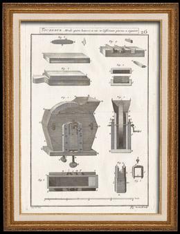 Platte 26 - IN-FOLIO - Enzyklopädie - l'Art du Tourneur Mecanicien, von Hulot (Pere) veröffentlicht von l'Academie Royale des Sciences (Frankreich) - Ausgabe von Paris, 1775