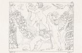 Stich von Mythologie - Monster - Engel - Italienische Renaissance - Kinder Spiele (Raffaello Sanzio auch Raffael)
