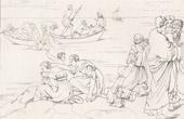 Stich von Mythologie  - Geschichte Griechenlands - Italienische Renaissance - Der Wunderbare Fischzug (Raffaello Sanzio auch Raffael)
