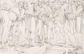 Stich von Italienische Renaissance - Bibel - Ägypten - Josef Verkauft Von Seinen Brüder an die ägyptischen Händler (Raffaello Sanzio auch Raffael)