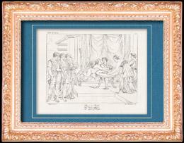 Mythologie - Nymphe - Engel - Italienische Renaissance - Die Geschichte von Amor und Psyche (Cupido) : Der Psyche Mahlzeit (Raffaello Sanzio oder Raffael)