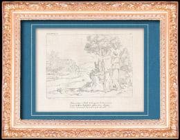 Mythologie - Italienische Renaissance - Die Geschichte von Amor und Psyche (Cupido) : Venus (Aphrodite) Beherrscht Psyche ihr Die Goldene Vlies Zubringen (Raffaello Sanzio oder Raf