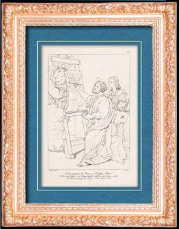 Italienische Renaissance - Madonna - Der Heilige Lukas Portr�tiert die Jungfrau Maria mit dem Christuskind (Raffaello Sanzio auch Raffael)