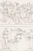 Stich von Römische / Griechische Mythologie - Göttin - Italienische Renaissance - Allegorische Gottheiten mit Ihren Eckennzeichen (Raffaello Sanzio oder Raffael)