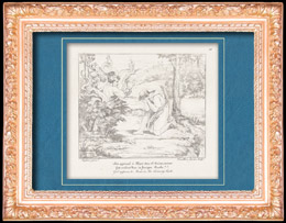 Italienische Renaissance - Bibel - Gött Erscheint Mose im Feurigen Busche (Raffaello Sanzio auch Raffael)