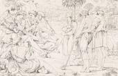 Stich von Italienische Renaissance - Bibel - Joseph Erzaehlt Seinen Traum den Brüdern (Raffaello Sanzio auch Raffael)
