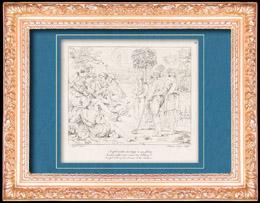 Italienische Renaissance - Bibel - Joseph Erzaehlt Seinen Traum den Brüdern (Raffaello Sanzio auch Raffael)