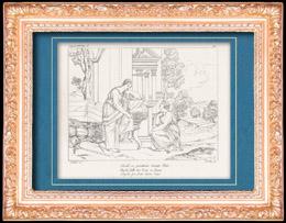 Mythologie - Italienische Renaissance - Die Geschichte von Amor und Psyche (Cupido) : Psyche Wirft sich vor Ceres Nieder (Raffaello Sanzio oder Raffael)
