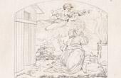 Stich von Italienische Renaissance - Bibel - Judentum - Die Prophezeihung Gotter an Abraham (Raffaello Sanzio auch Raffael)