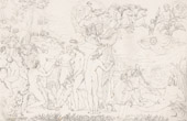 Greek Mythology - Greek Gods - Italian Renaissance - The Judgment of Paris (Alexander), Prince of Troy and Killer of Achilles (Raffaello Sanzio called Raphael)