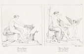 Stich von Griechische Mythologie - Römische Mythologie - Engel - Göttin - Cupido - Italienische Renaissance - Aphrodite - Venus und Liebe (Raffaello Sanzio oder Raffael)