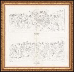 IN-FOLIO (Raisin / Weintraube) - Mythologie - Italienische Renaissance - Die Geschichte von Amor und Psyche (Cupido) : Die Hochzeit von Psyche / Die Apotheose von Psyche (Raffaello