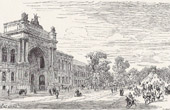 View of Paris - Historical Monuments of Paris - Avenue des Champs-�lys�es - Palais de l'Industrie