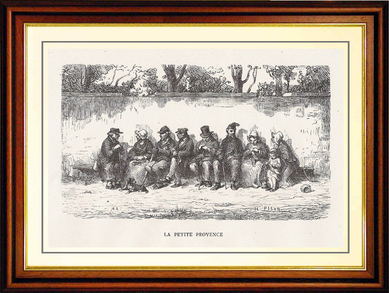 Gravures Anciennes & Dessins | Vue de Paris - Monuments Historiques de Paris - La Petite Provence | Gravure sur bois | 1870