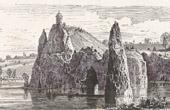 View of Paris - Historical Monuments of Paris - Park - The Temple of Sybil - Parc des Buttes Chaumont (Lake)
