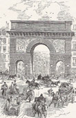 View of Paris - Historical Monuments of Paris - Porte Saint-Martin