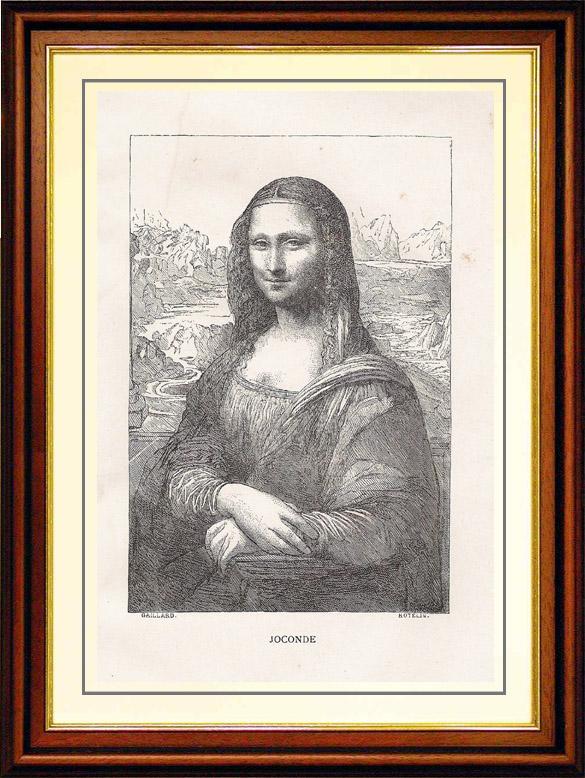 Antique Prints Louvre Italian Renaissance Mona Lisa Also Known As La Gioconda Leonardo