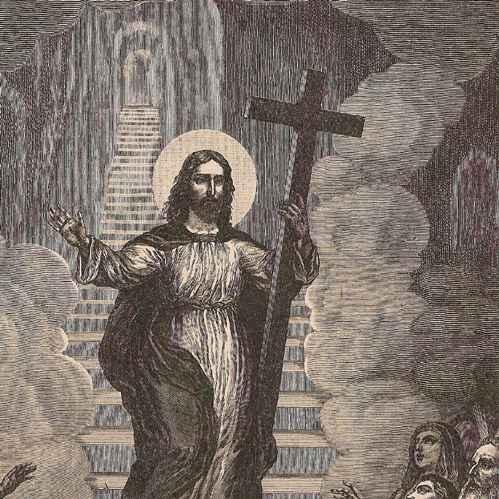 Antique Prints Christ S Descent Into Hell Limbo Adam