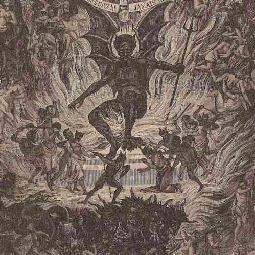 Antique Prints Hell Devil Satan Lucifer Demon