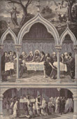 The Eucharist - The Cenacle of Jerusalem - Jesus Christ - Apostles - Angels