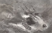 Shipwreck of an English East India Company Vessel - The Kent in Fire