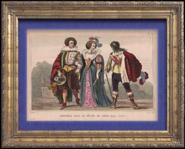 Französische Mode und Militärische Kostüme - 17. Jahrhundert - Königliche Gericht - Ludwig XIII, König von Frankreich (1620)