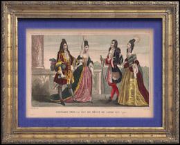 Franz�sische Mode und Milit�rische Kost�me - 18. Jahrhundert - K�nigliche Gericht - Ludwig XIV, K�nig von Frankreich (1710)