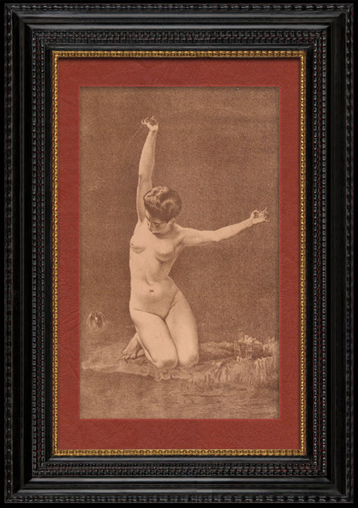 Antique Prints & Drawings | Art Nude - Erotic Art - The Woman with the Bird  (Ernst Philippe Zacharie) | Lithography | 1901