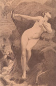 Art Nude - Erotic Art - Greek Mythology - Andromeda, Perseus and the Monster Cetus (Charles Alexandre Coessin De La Fosse)