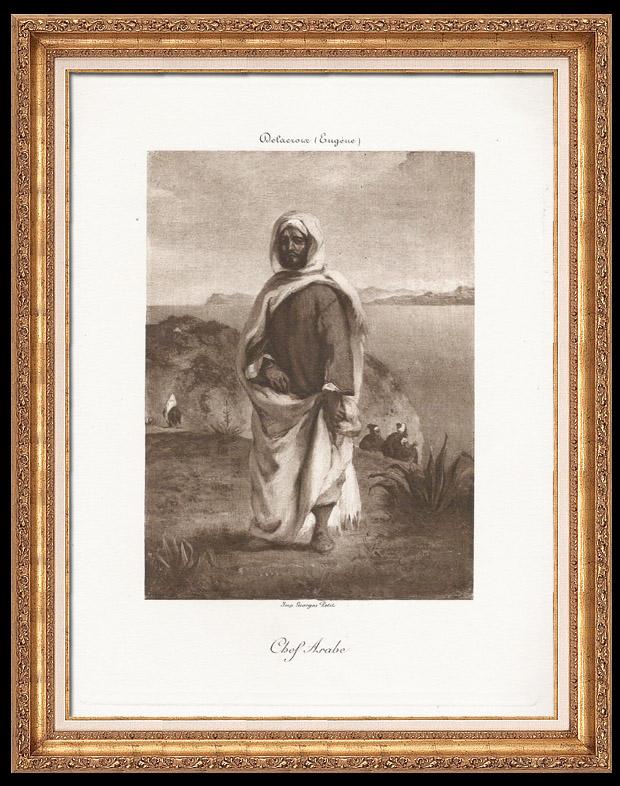 Gravures Anciennes & Dessins   Orientalisme - Chef Arabe (Eugène Delacroix)   Photogravure   1890