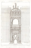 Drawing of Architect - Architecture - Triumphal Arch of Alfonso V of Aragon to the Castel Nuovo of Naples